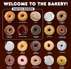 Dunkin' Donuts Flavors – Donuts of Lincoln Dunkin Donuts Donut Flavors, Baked Donuts, Dunkin Donuts Coffee, Donut Recipes, Snack Recipes, Mini Doughnuts, Donkin Donuts, Dessert Cake Recipes, Desserts