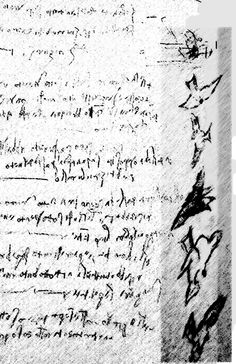 I cannot read Latin But I can write it.  I was so inspired by Da Vinci's writing I rewrote his notes  alongside the notes are sketches that he made.