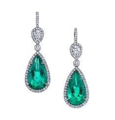 Omi Prive: Emerald and Diamond Earrings