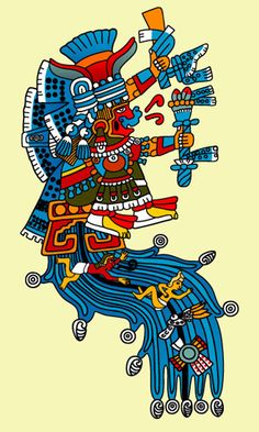 """Chalchiuhtlicue, Aztec Goddess of flowing water, lakes, and streams. She represents youthful beauty and is commonly referred to as """"Jade Skirt"""""""