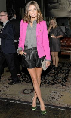 Olivia Palermo Looks Effortlessly Chic In A Pink Zara Blazer At The After Party For There Be Dragon, 2011