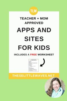 Safe apps for kids // Parents and teachers these apps for kids are all great because they don't have a social component to them! Click through to download the free checklist and give it to your kids to reference!