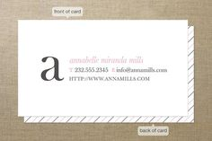 Simple and Pretty Business Cards by Up Up Creative at minted.com