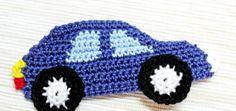 Örgü Aplike Modeli Araba Yapılışı 4