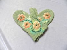 Handmade felted children's mittens / size 36 years/ by Marywool, $22.00
