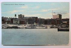 Nashville TN River Wharf from East Nash DB Postcard ca1910 sent to Danville Ill.