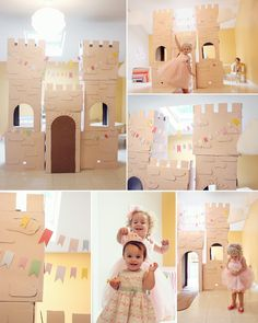 Castle made out of cardboard! So cute!