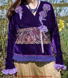Amethyst Violet Moon Gypsy Top Bohemian by RagsForGypsies on Etsy