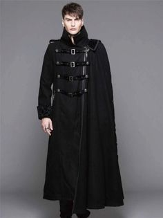 Retro Rock Mens Coat jacket Black Gothic Steam punk Aristocrat Victorian Size XL | eBay