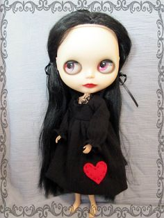 My Lonely Heart Dress for Blythe by PepperoniPizza on Etsy, $30.00