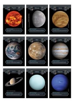 There also happens to be a pack of 9 self-print cards (just The Sun and planets) at TpT (https://www.teacherspayteachers.com/Product/Solar-System-Trading-Cards-Sun-and-Planets-1771945) and Etsy (https://www.etsy.com/au/listing/226910465/cosmic-collector-cards-sun-and-planets)
