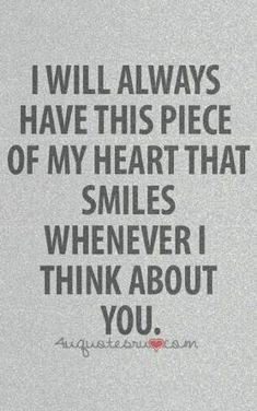 A piece of my heart will always smile when I think of you. # peace # quotes by kara