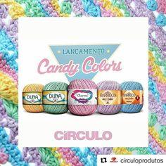 """Apaixonada!   #Repost @circuloprodutos with @repostapp  A tendência das """"Candy Colors"""" já chegou aqui!  São cinco novas cores nos fios mais amados: Duna Charme e Barroco   Os fios Candy já estão disponíveis nos melhores armarinhos do Brasil!  O coraçãozinho tá acelerado e a cabeça a mil cheia de ideias com essas cores. Vocês também?   #semprecirculo #candycolors #candy #tendencia #handmadewithlove #yarnlover #candycolorscirculo #candycirculo"""