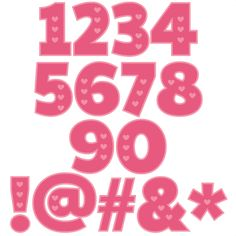 Valentine Numbers scrapbook cuts SVG cutting files doodle cut files for scrapbooking clip art clipart doodle cut files for cricut free svg cuts Cute Fonts, List Template, Templates, Doodle Lettering, Art Clipart, Letters And Numbers, Silhouette Design, Svg Cuts, Cutting Files