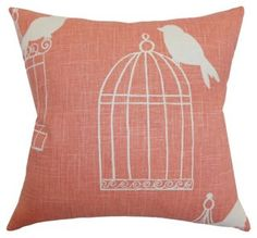 Alconbury 18x18 Cotton Pillow, Melon