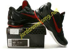 Nike Kobe 6 VI Shoes Cheap For Sale Blackout Sport Red White 436311 001