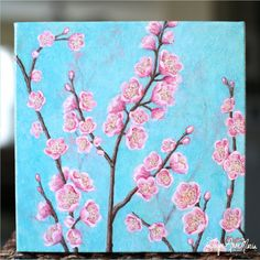 Pink Cherry Blossoms Painting