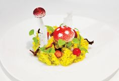 Cute and unusual dish at Tickets in #Barcelona - photo by Mathieu Raffard and Gunnar Knechtel. #Mushrooms #food