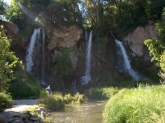 Rifle Gap in Colorado..waterfalls you can walk behind them and there are caves....just absolutely AWESOME