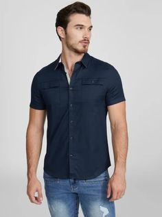Men's Casual & Dressy Button Up Shirts Outfits Casual, Mode Outfits, Men Casual, Fashion Outfits, Casual Dressy, Casual Styles, Club Outfits, Casual Summer, Mens Fashion Uk