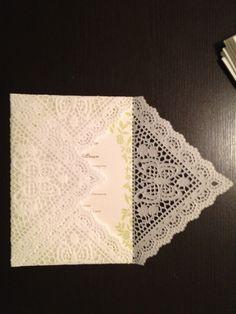 DIY doily envelope, so easy!