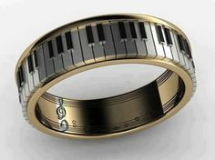 Gemstone Rings Miscellaneous items piano ring necklace bangle ring by spintea, What do you think of the Music Jewelry, Cute Jewelry, Jewelry Box, Jewelry Rings, Jewelery, Jewelry Accessories, Jewelry Design, Bullet Jewelry, Copper Jewelry