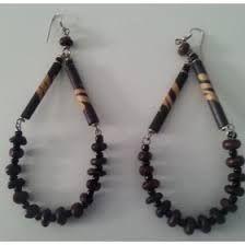 Image result for bone bead earrings