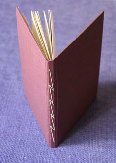 lightning stitch handmade book