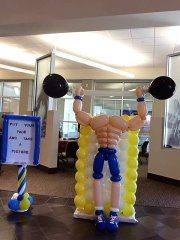 Muscle man balloon photo prop. This looks complicated, but it is truely cool!