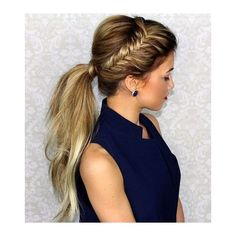 25 Elegant Ponytail Hairstyles for Special Occasions ❤ liked on Polyvore featuring accessories, hair accessories, holiday hair accessories, evening hair accessories and long hair accessories