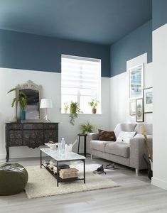 Ceiling paint colors - Adorable Home Interior Design Ideas To Try – Ceiling paint colors Best Ceiling Paint, Ceiling Paint Colors, Colored Ceiling, Ceiling Paint Ideas, Ceiling Painting, Painting Walls, Dark Ceiling, Interior Painting, Painting Wallpaper