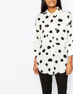 Image 3 ofWhistles Spot Olivia Oversize Shirt