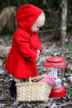 Little Red Riding Hood Inspiration. Fairy tale photoshoot. Fairy tale inspiration. Toddler photoshoot. (c) Jasmine Marsden Photography (c) All Rights Reserved
