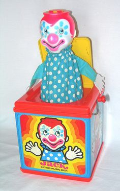 Jack-in-the-Box by Mattel, I never liked this creepy thing but it sure is burned into my memory! My Childhood Memories, Childhood Toys, Great Memories, Vintage Toys 1970s, Retro Toys, Fisher Price, Nostalgia, Jack In The Box, Barbie