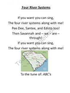 10 South Carolina History Songs for Third Grade  product from Keep Calm and Teach On on TeachersNotebook.com