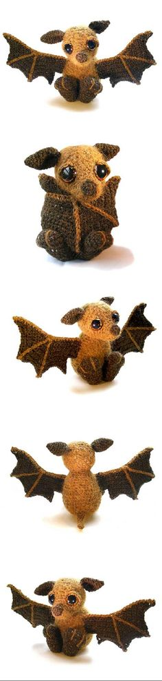 Otis the Bat Found at Amigurumipatterns.net http://www.amigurumipatterns.net/shop/Patchwork-Moose/Otis-the-Bat/