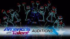 America's Got Talent 2017 - Light Balance  Dancers Light Up The Stage An...