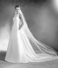 Elma - Vestido de novia diseño de mikado
