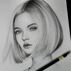 Supreme Portrait Drawing with Charcoal Ideas. Prodigious Portrait Drawing with Charcoal Ideas. Pencil Art Drawings, Art Drawings Sketches, Realistic Drawings, Drawing Art, Drawing Ideas, Female Drawing, Pencil Portrait Drawing, Drawing Women, Drawing Portraits