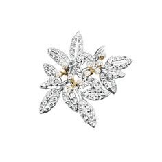 Winter Frost charm in 18K white gold and diamonds TW.VS - Charms | OLE LYNGGAARD COPENHAGEN