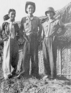 Jeunes partisans Việt Minh. Cochinchine 1950.