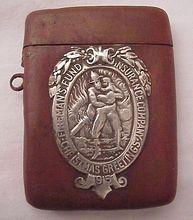 Shreve & Co. Fireman's Fund 1915 Christmas Match Safe