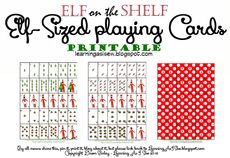 Elf on the Shelf Full Deck of Printable Elf-Sized Playing Cards (no Jokers) #elfontheshelf