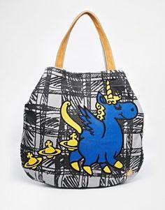 Vivienne Westwood Anglomania Unicorn Print Shoulder Bag