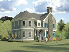 019H-0220: Two-Story Luxury House Plan