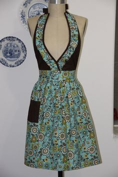 Brown and blue floral ruffled vneck.Stylish and by SouthernA, $38.00
