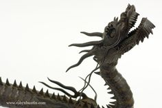 Jizai Okimono: Iron Dragon. Lion Sculpture, Dragon, Statue, Art, Art Background, Kunst, Performing Arts, Sculptures, Sculpture