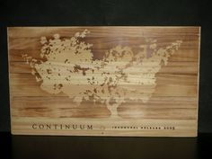 Very rare Mondavi Continuum 6 bottle slide-top wine crate lid/top