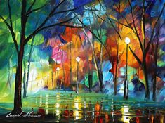Holiday mood 2 oil painting on canvas by L.Afremov by…