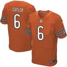 Men's Nike Chicago Bears #6 Jay Cutler Elite Alternate Orange Jersey $129.99